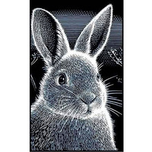 Diamond Embroidery rabbit 3D DIY Painting animal Rabbit Cross Stitch Picture Paintings Rhinestones Home Decorative