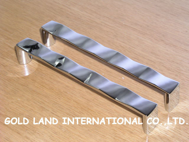 160mm Free shipping zinc alloy be plating bright chrome furniture long handle