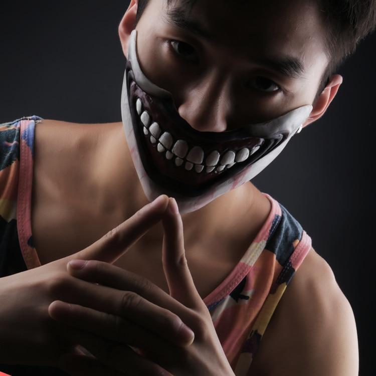Halloween For Horror Story Joker Cosplay Mask Unisex Half Face Headgear Latex Masks Costume