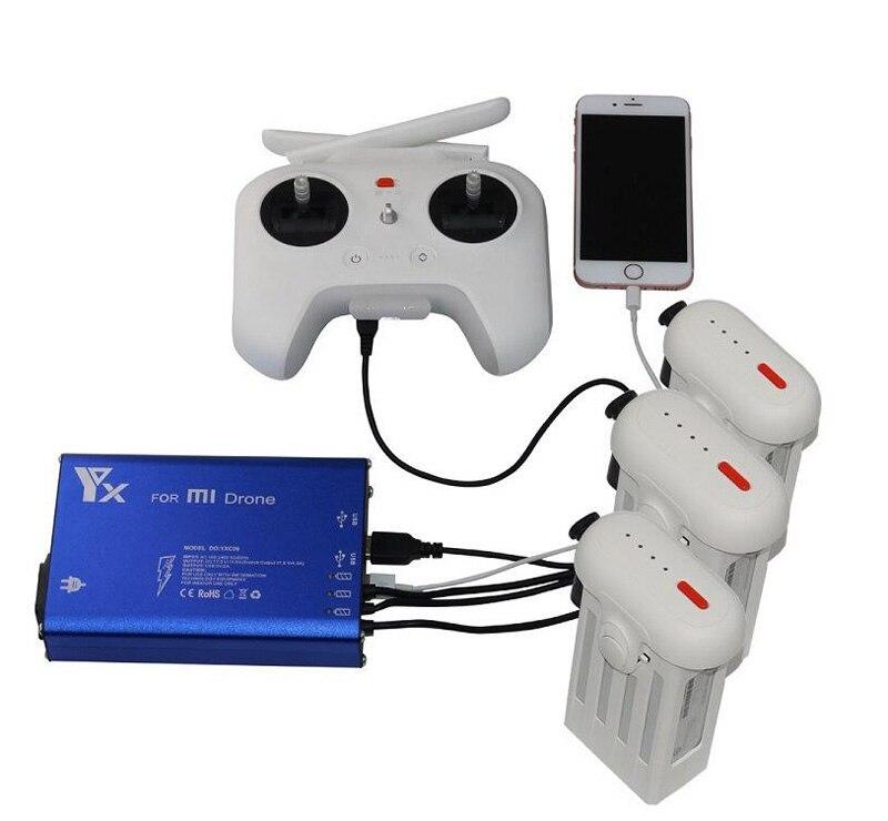 5in1 Pour Mi Drone Xiaomi Batterie Lipo Chargeur À Distance Contrôleur De Charge Hub Port de Charge USB Charge Rapide