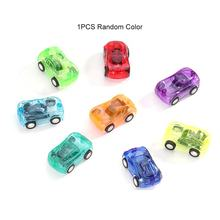 Children 5X3 Cm Car Toys Mini Pull Back Back Transparent Pull Back Car Toys Independent Packaging Gifts Small Toys(China)