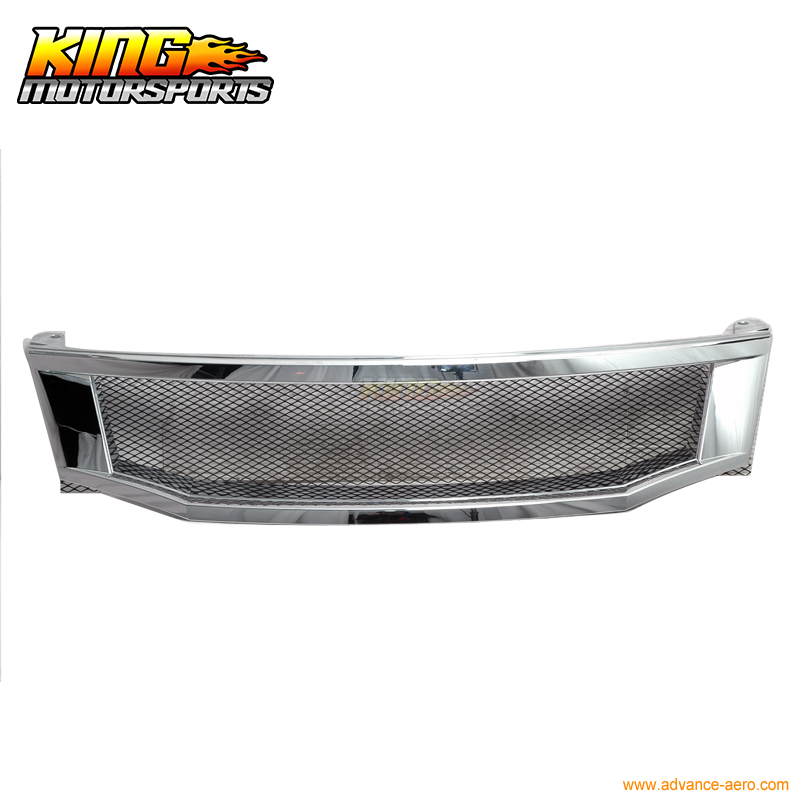 For 08 09 10 <font><b>Honda</b></font> <font><b>Accord</b></font> Sedan T-R Chrome Front Hood <font><b>Grille</b></font> USA Domestic Free Shipping Hot Selling image