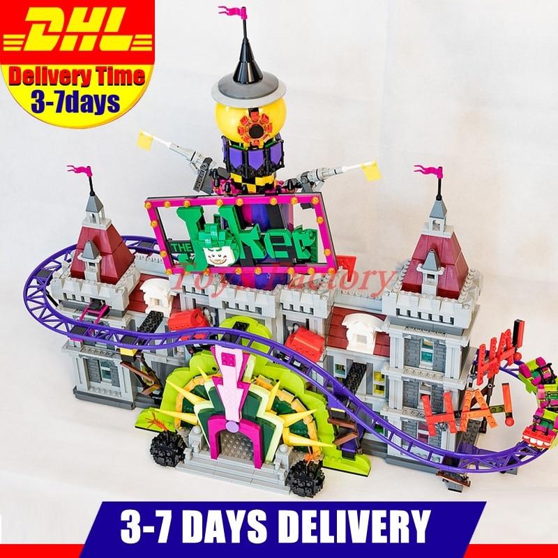 IN STOCK Hot LEPIN 07090 3857Pcs Super Hero Series The Joker s Manor Set Model Building Blocks Bricks Gifts Clone 70922