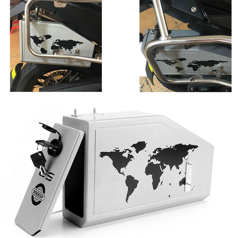 Pour BMW F 800 GS F700GS F800 GS F800GS F 800GS 2013-2017 toute nouvelle boîte à outils boîte à outils décorative en aluminium boîte à outils support latéral 5 litres