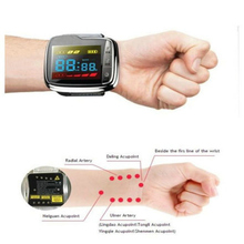 LLLT Laser Watch Therapy Snoring Sore Throat Treatment Tinnitus Blood Pressure Blood Pressure with 4 Probes blood pact