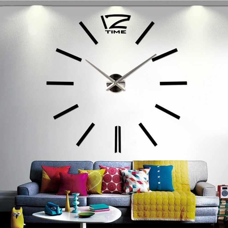 2019 新ホット販売壁時計時計時計 3d diy のアクリルミラーステッカーリビングルームのクォーツ針ヨーロッパ大時計送料無料