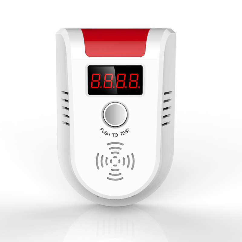 ФОТО Digital LCD Display Wireless Gas CO Sensor Detector 433MHz For Our Alarm System