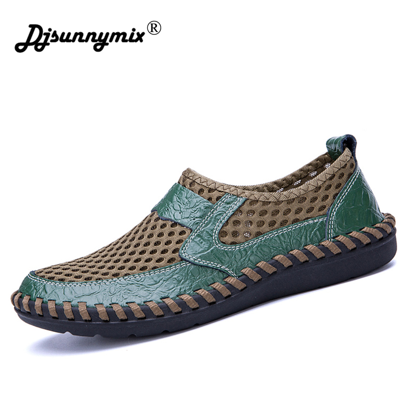 New Arrival Big Size 38-46 Summer Breathable Mesh Men Casual Shoes For Comfortable Handmade Men Slip-On Lazy Male Shoes