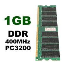 1 шт. 1 Гб DDR ram 400 МГц PC3200 без ECC 184 контактов в памяти совместимая оперативная память низкая плотность Настольный ПК DIMM память для ram cpu GPU APU
