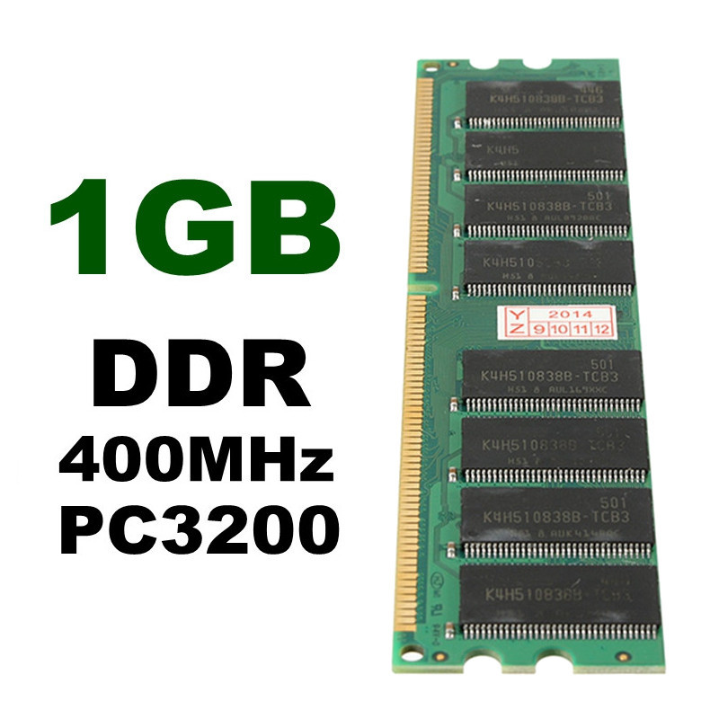 1Pcs 1GB DDR RAM 400MHz PC3200 Non-ECC 184 Pins In Memory Compatible Ram Low Density Desktop PC DIMM Memory For RAM CPU GPU APU