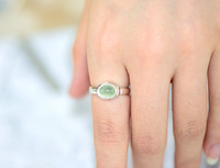 925 sterling silver rings simple small fresh grapes natural stone jewelry wholesale