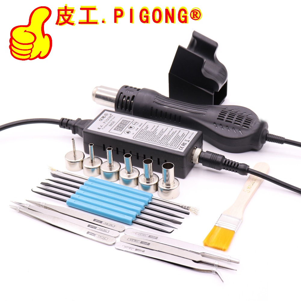 Image 2 - High quality 220V Portable BGA Rework soldering station Hot Air Blower Heat Gun 8858 Better  Hand held hot air gun 6pcs nozzle-in Heat Guns from Tools on