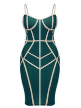 Hot Sale 2019 Fashion Women Geometry Sexy Dress Spaghetti Strap Sleeveless Bodycon Clubwear Strapless Party