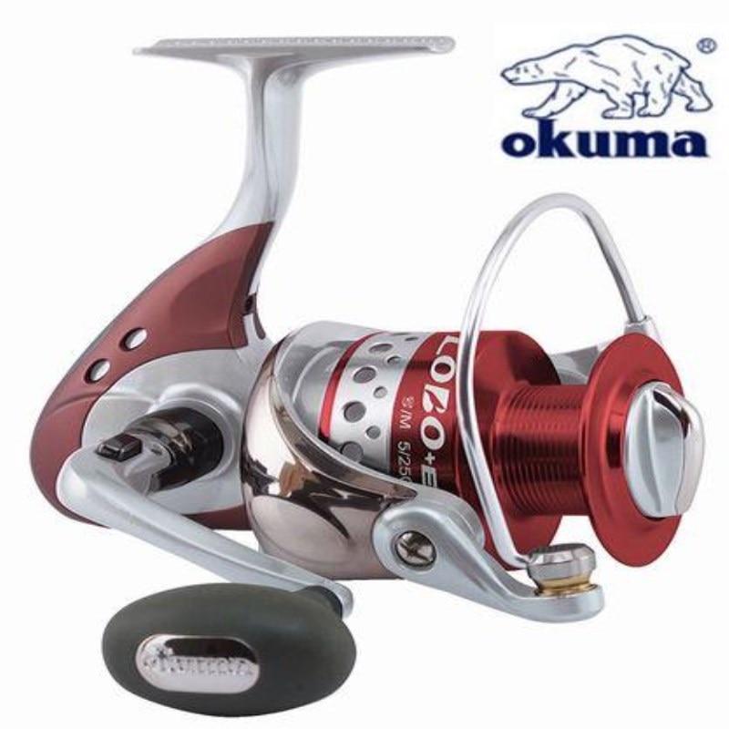 OKUMA LOE-4000 Full Metal Spinning Fishing Reel Gear Ratio 4.5:1 Ball Bearing 6+1 Foldable Rocker Sea Fishing Tackle Line Spool nunatak naga 5 2 1 4 7 1 11bb 7 5kg spinning fishing reel 2000 3000 4000 5000 spinning wheel fishing tackle with spare spool