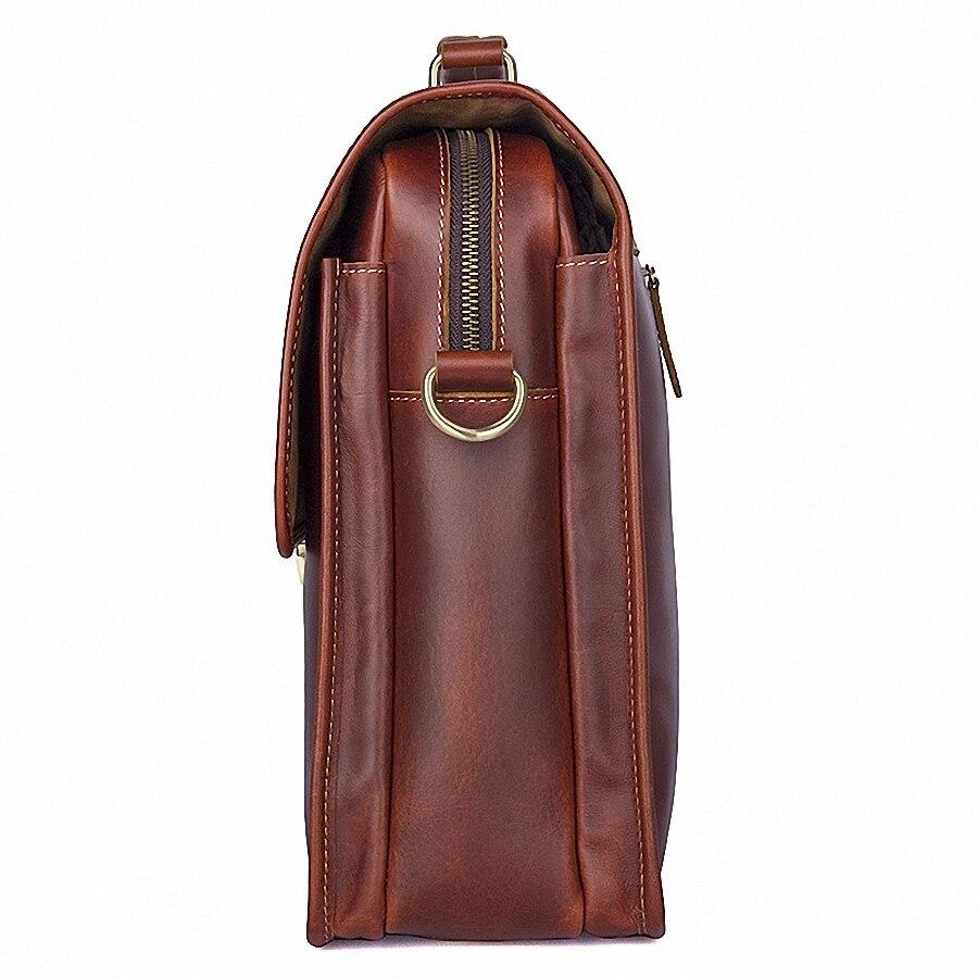 Business Man sac Theftproof Lock véritable mallette en cuir pour homme solide banque OL hommes mallette sac robe homme sac à main LI-1793 - 4