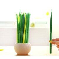 12 Pcs/Lot Creative Plant Gel Pen Green Grass Neutral Pen Blade Grass Cutting Decoration Stationery Office School Supplies