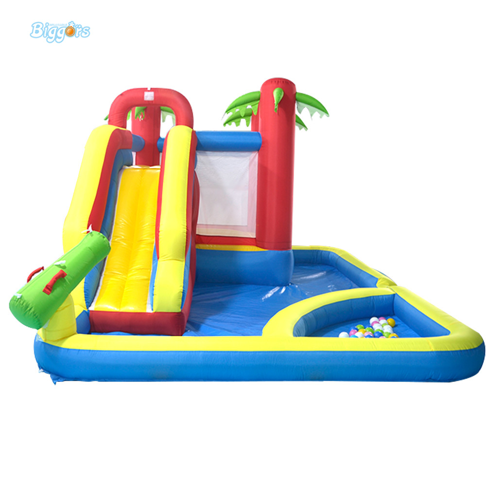 Home Used Bounce House Inflatable Combo Slide Bouncy Castle Jumper Moonwalk Inflatable Trampoline with Water Pool for Sale tropical inflatable bounce house pvc tarpaulin material bouncy castle with slide and ball pool inflatbale bouncy castle
