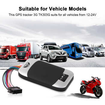 Car GPS Tracker 3G Vehicle Tracker GPS Locator Coban TK303G Waterproof IP66 Remote Control Cut Off Engine Geo-fence Free Web APP
