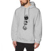 Star Dust To Sea Foam Men's Hooded Sweatshirt Novelty Pure Cotton Solar System Space Hoodie Winter Pullovers