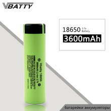 Very cheap 18650 battery Vbatty 3600mah 10A 3.7V Li-ion rechargeable batteries with flat top PK NCR18650B (1pc/lot)