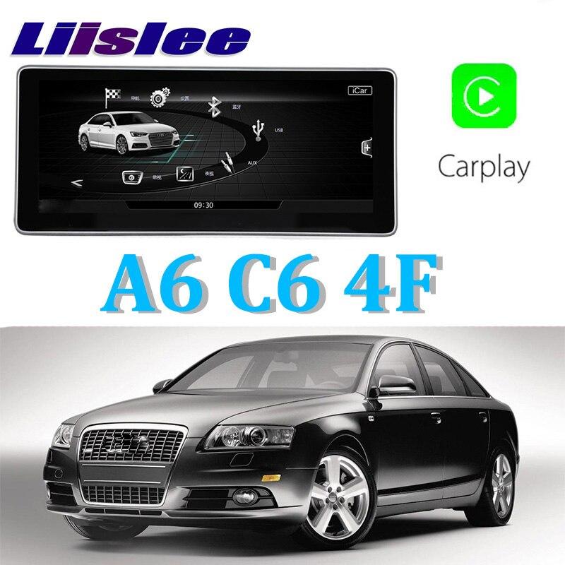 Liislee автомобильный мультимедийный плеер NAVI 10,25 дюймов для Audi A6 C6 4F 2004 ~ 2011 Riginal автомобиля MMI Стиль Радио Стерео gps навигации