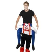 Взрослые Унисекс костюмы талисмана дьявол клоун костюмы на Хэллоуин забавные Необычные платья Экипировка для животных брюки с ложными ног