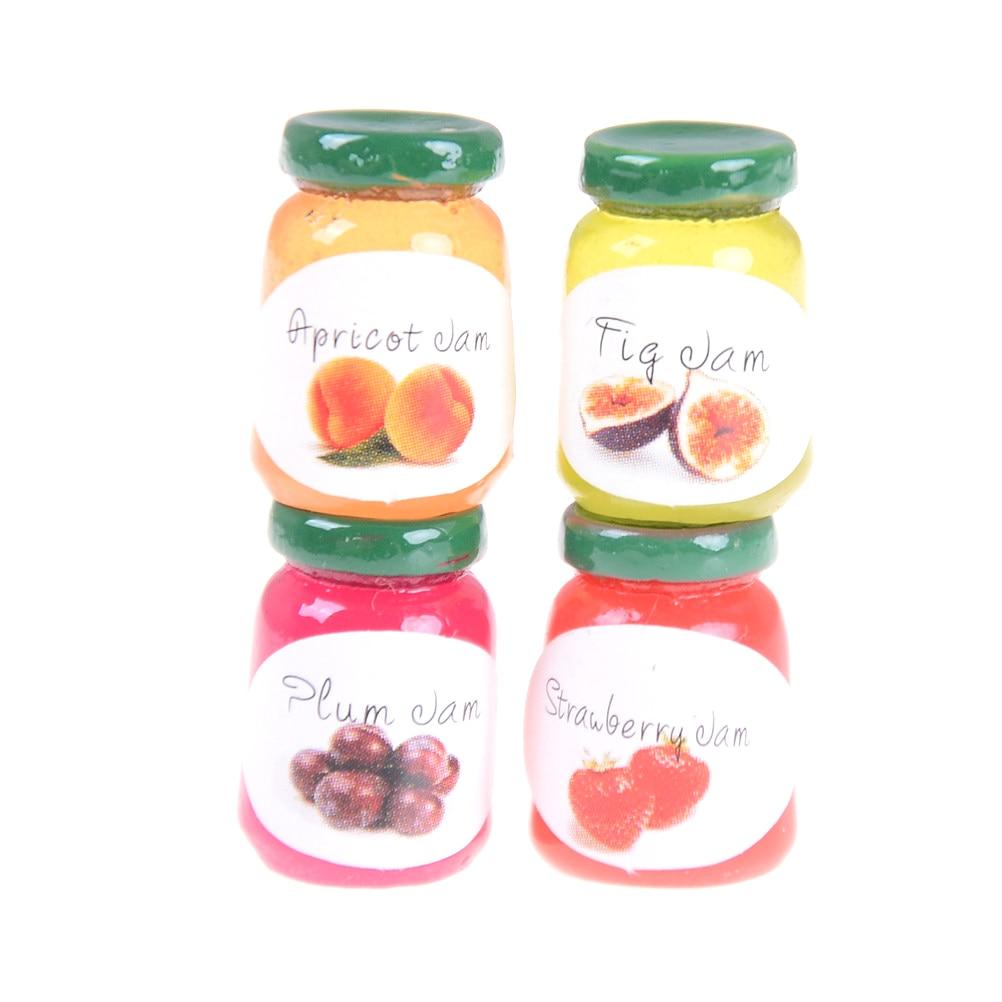 8Pcs 1:12 Dollhouse miniatures accessories jams miniature kitchen jams