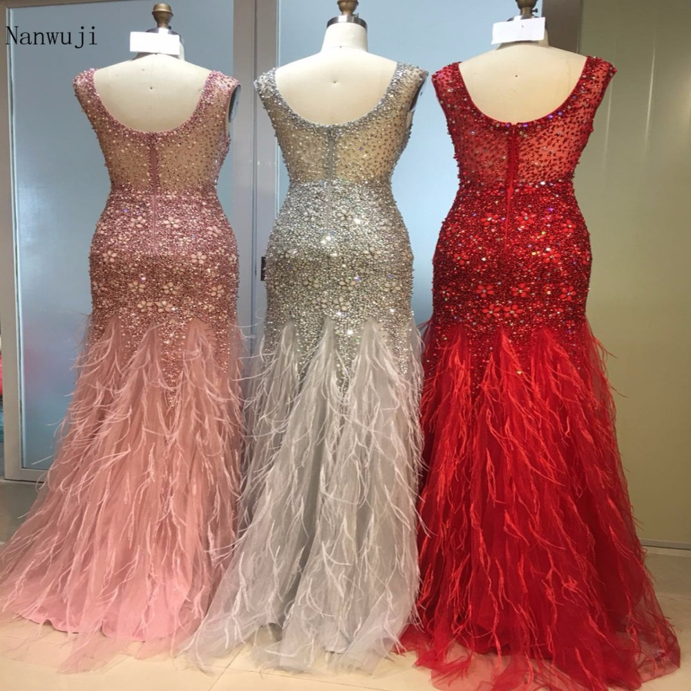 Fast Shipping in Stock Gray Long Mermaid Evening Dresses with Beaded Sequined Tulle Cap Sleeve Plus Size Women Party Gowns in Evening Dresses from Weddings Events