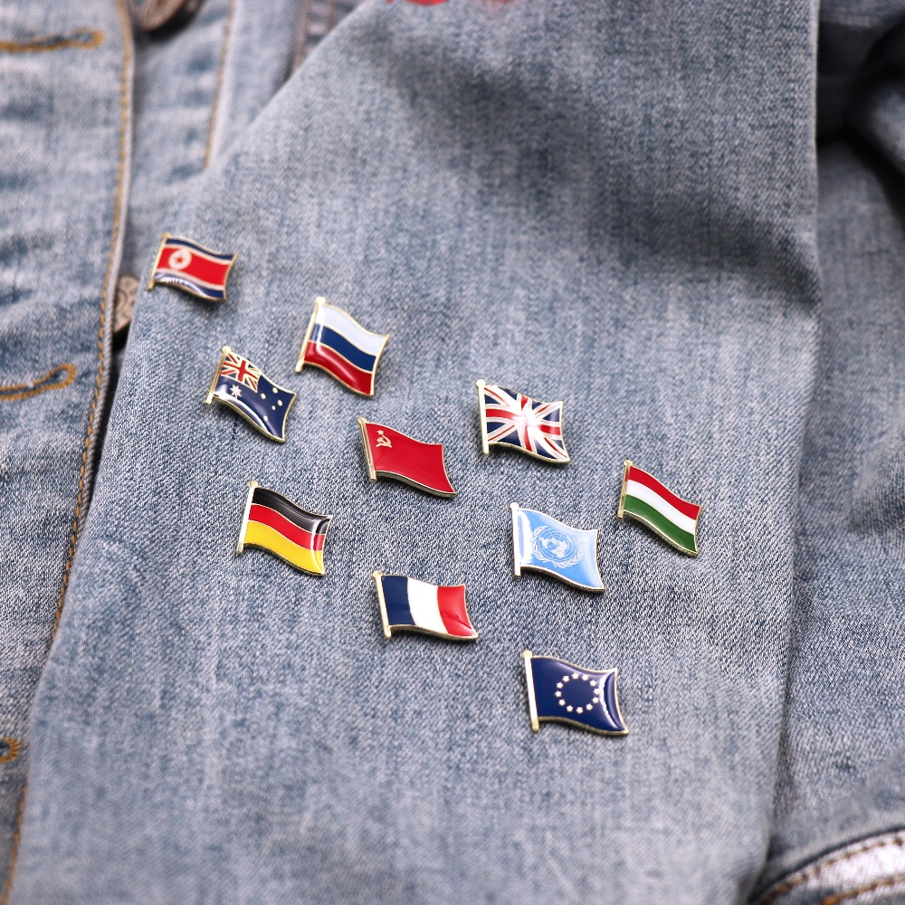 Countries Flag Laple Pin Badge Pin For You Choose Easy And Simple To Handle Aspiring Wholesale 300 Badges