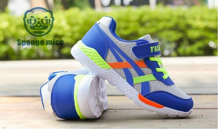 2017 Sponge mice brand children's breathable children's shoes boys sneakers girls sport shoes size 26-35