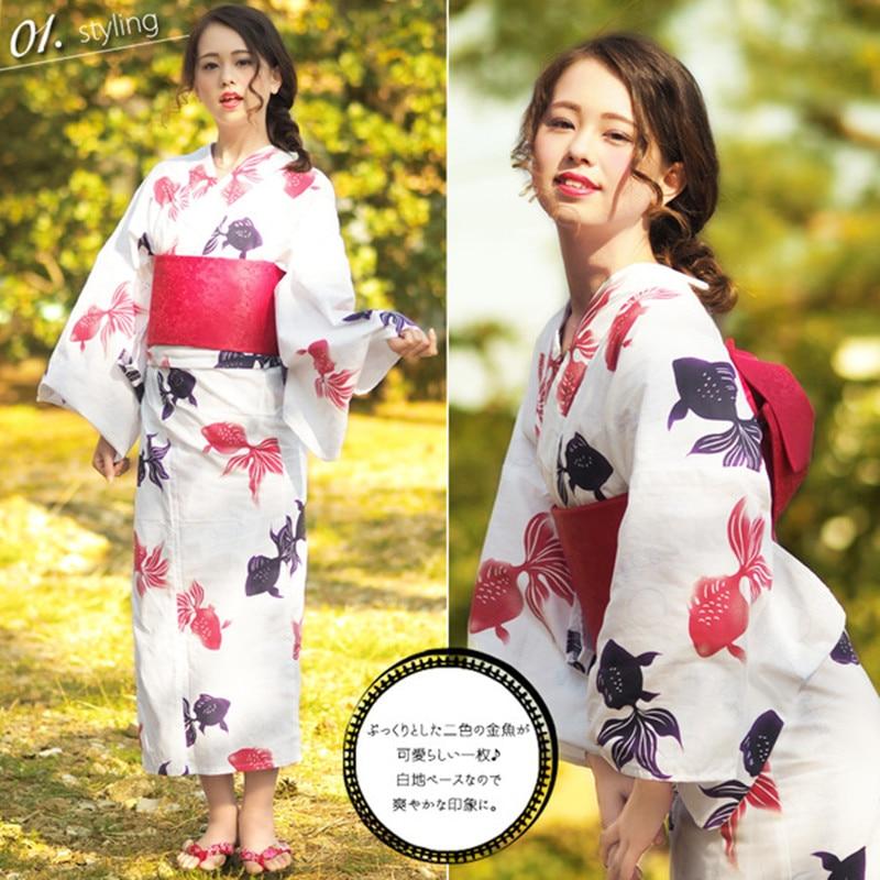 National Women Robe Bathrobe With Obi Vintage Japanese Kimono Geisha Yukata Haori Ladies Cosplay Costume One Size Dress Gown