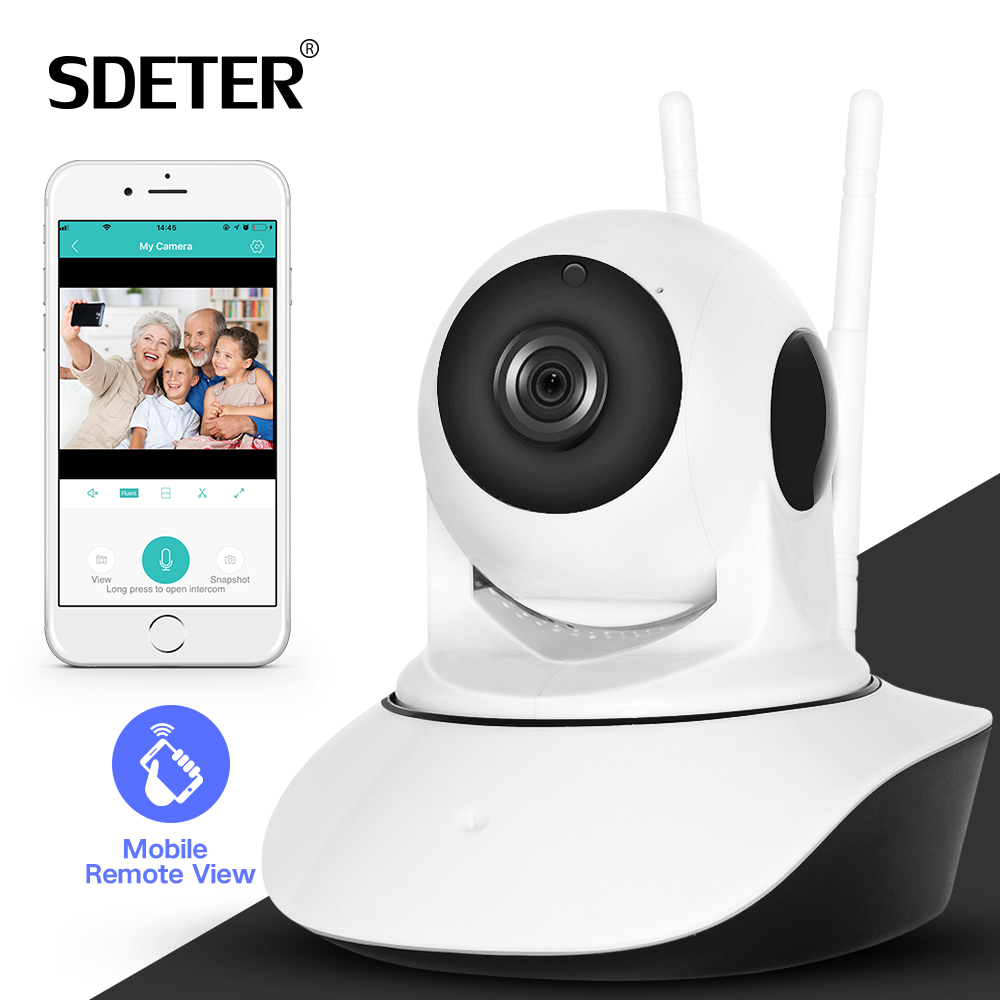 SDETER 1080P Wireless Home Security IP Camera Network CCTV Camera Wifi Video Surveillance 720P Night Vision Two Way Audio Camera vstarcam c21s hd 1080p 720p c21 wifi video surveillance security wireless ip camera with two way audio ir night vision pan tilt