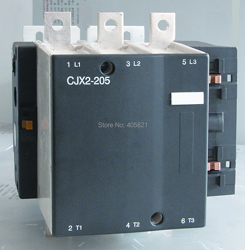 Best quality 205A AC Contactor CJX2-205 3P used for ac motor cjx1 205 5322 ac contactor magnetic contactor 2no 2nc 205a