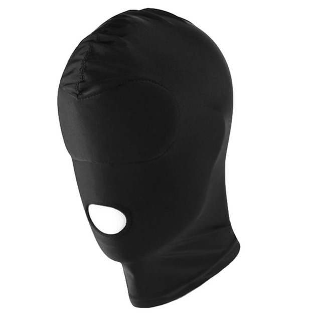 Sex-Spandex-Blindfold-FACE-FULL-MASK-SPANDEX-MOUTH-Opening-Headgear Style Fetish Sexy Toys Headgear Mask Cosplay Easter