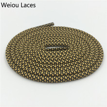 Weiou Awesome Hiking Two Toned Rope Laces Stretchable Replacement Shoelaces Polyester Shoe Strings Round Ropelaces Kith Style цены онлайн