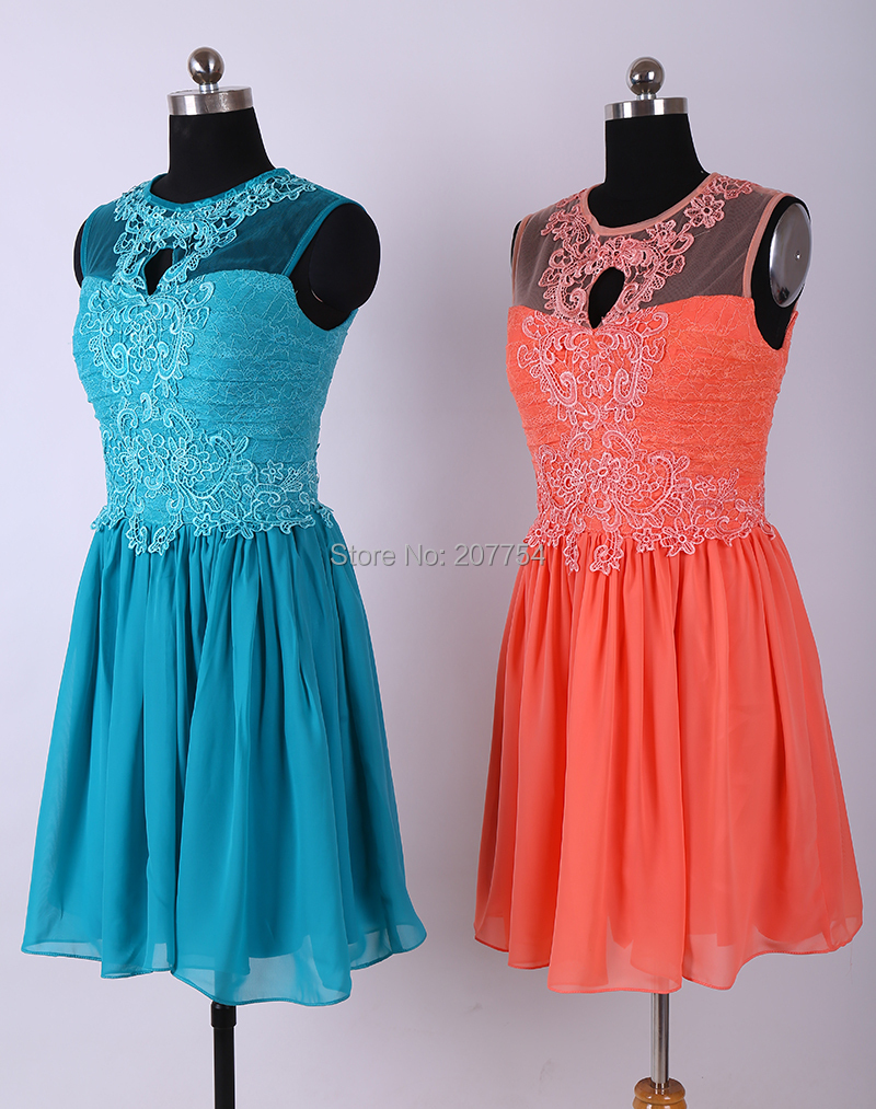 Lace Royal Blue Bridesmaids Dress Coral Short Bridesmaids Dress ...