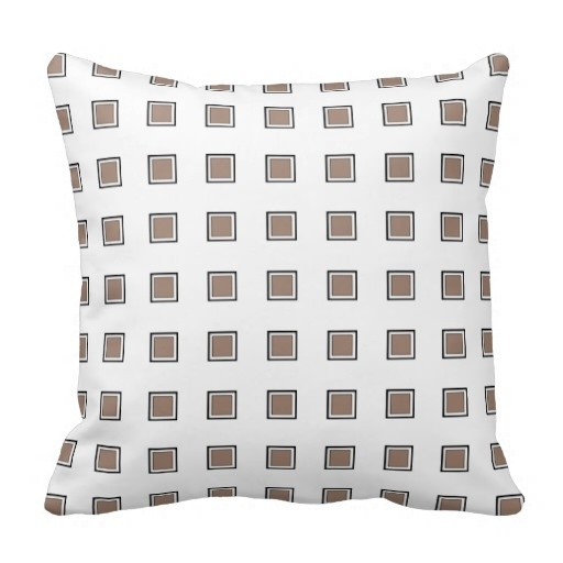 Soft Beaver Checkerboard Classy Pillow Case (Size: 45x45cm) Free Shipping