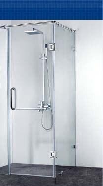 Frete grátis, 304 dobradiça do chuveiro de aço inoxidável, braçadeira de vidro de 90 graus, braçadeira de chuveiro, espelho terminado, fácil instalação, durável - 5