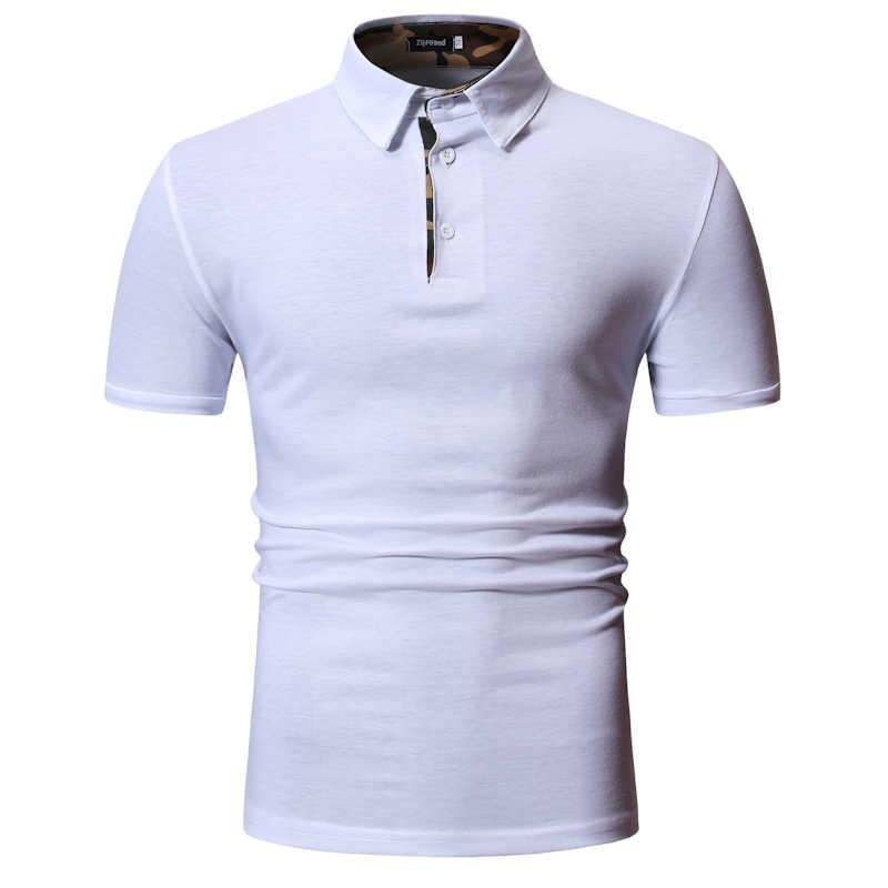 Мужская рубашка поло 2019 Новая мужская простая тонкая хлопковая Повседневная рубашка поло с коротким рукавом