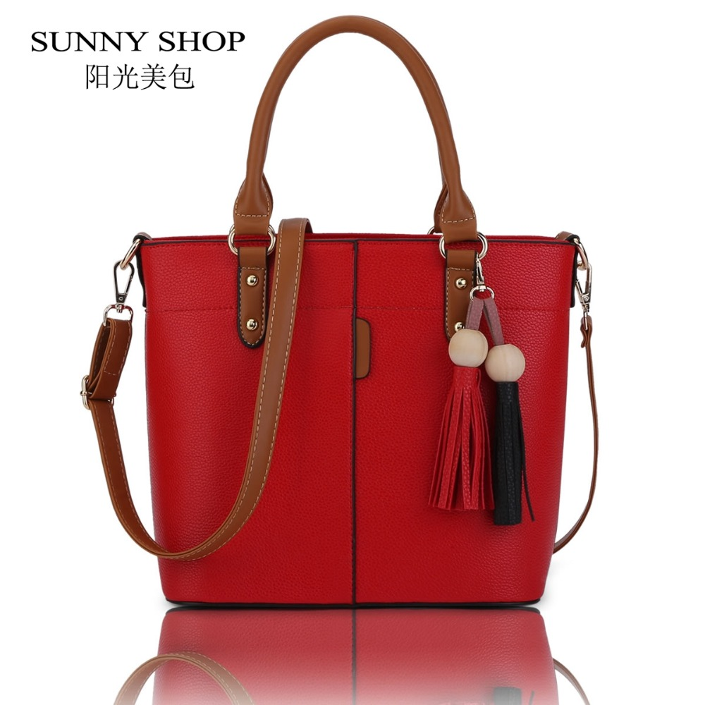 ФОТО SUNNY SHOP European And American Fashion Tassel Women Bag High Quality Lady Shoulder Bags Brand Designer Handbags Gifts For Girl