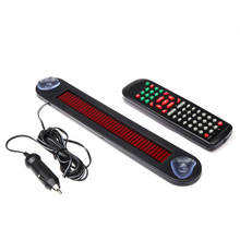 30cm 7X40 Pixel 12V Scrolling Car LED Display English&Russian Support RED LED Car Sign Board LED Programmable Message Sign