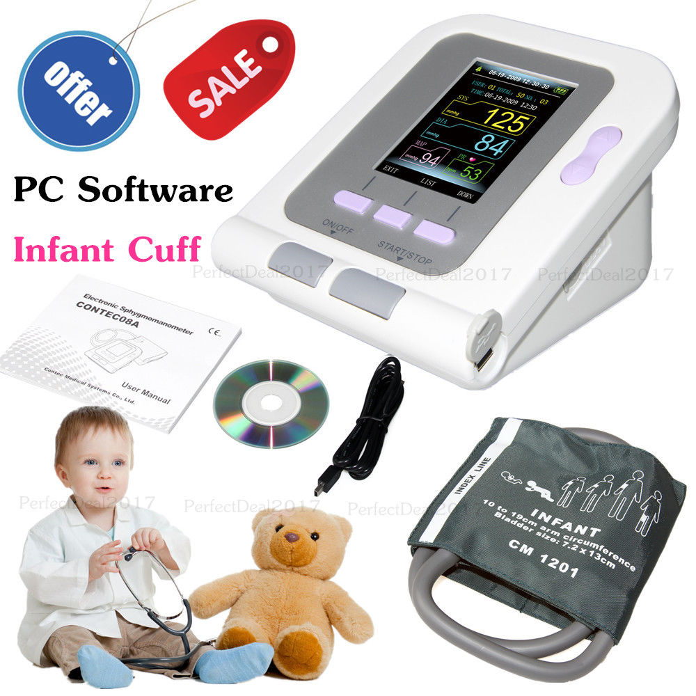 Digital New Born Infant Pediatric Blood-Pressure Monitor Sphygmomanometer SW CONTEC