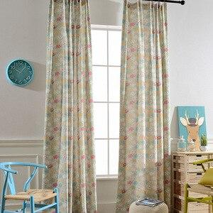 Image 2 - מודרני וילונות חיים חדר שינה חדר ילדים חדר מודרני מינימליסטי פוליאסטר כותנה הדפסת ילדי Cartoon בני בנות
