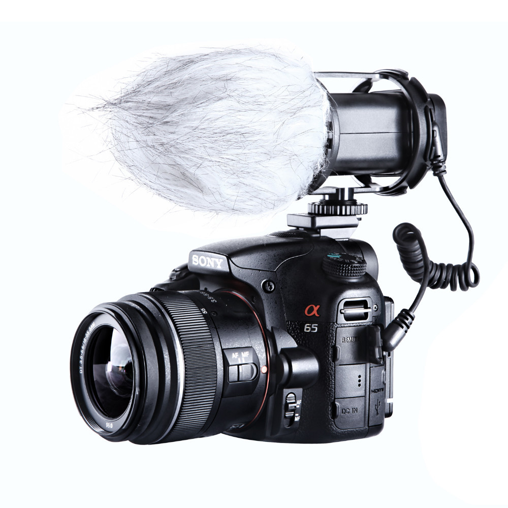 BOYA BY-V02 microfone Compact External Stereo Video Microphone for Canon for Nikon DSLR Camera mikrofon microphone capsule microfone profissional core fits for shure sm 58 type mic replace for the broken one
