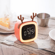Backup Bedroom Pet TV Shape Desktop Digital LED Clock Alarm with Temperature Display for Heavy Sleeper