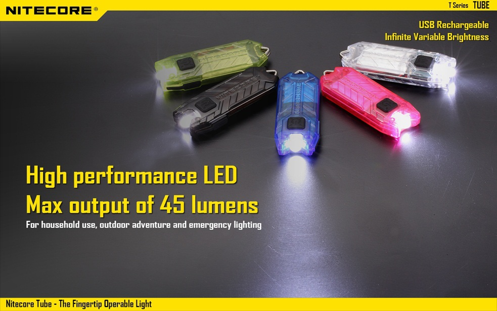 2015 New Nitecore T Series Tube 45 Lumens USB Rechargeable Keychain Light As Gift ,Freeshiping
