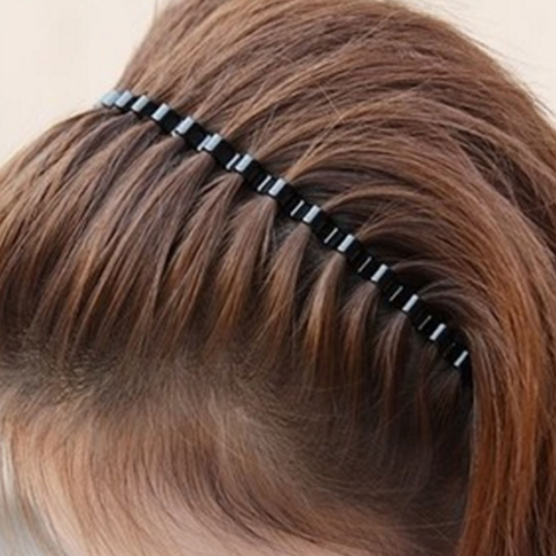 Fashion Mens Women Unisex Black Wavy Hair Head Hoop Band Sport Headband Hairband Hair Accessories