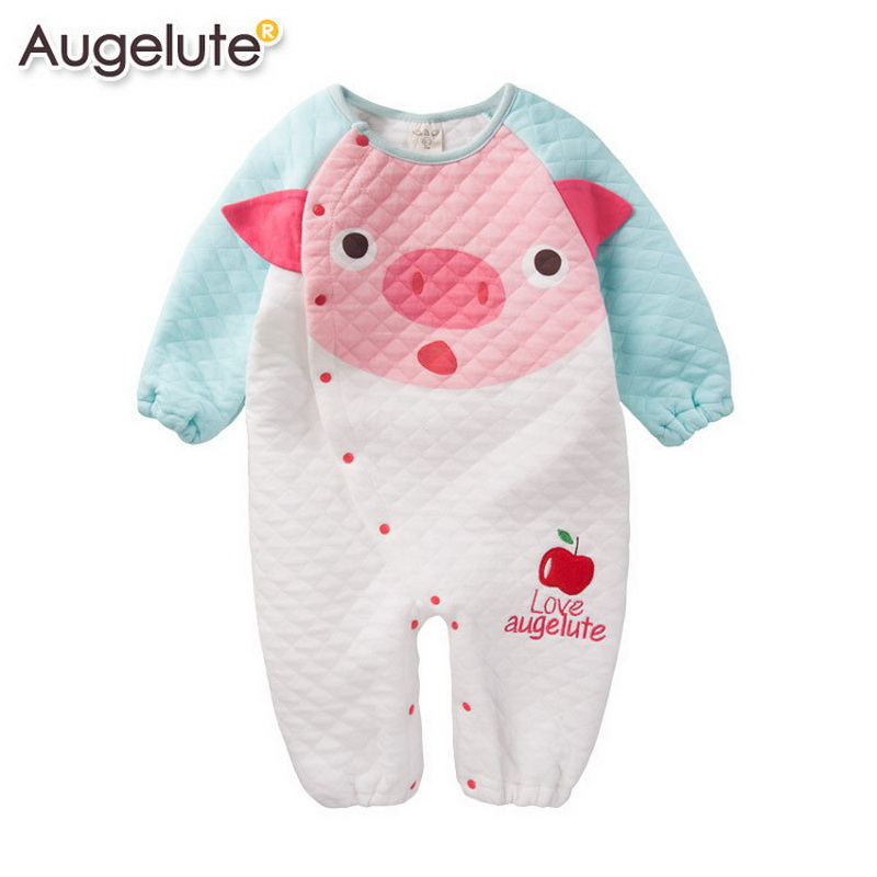 2016 New 100% Cotton Newborn Baby Girls Boys Rompers Baby Body Suit Cartoon Long Sleeve Clothes roupas de bebe newborn baby clothing spring long sleeve cotton baby rompers cartoon girls clothes roupas de bebe infantil boys costumes