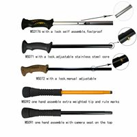 Fold able Wading Staff Water Depth Safety Warning Coated Adjustable Stainless