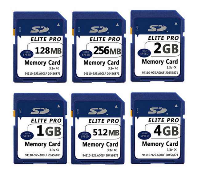 5 x 128MB 256MB 512MB 1GB 2GB SD Card Memory Card Secure Digital Flash Memory Card With Card Case